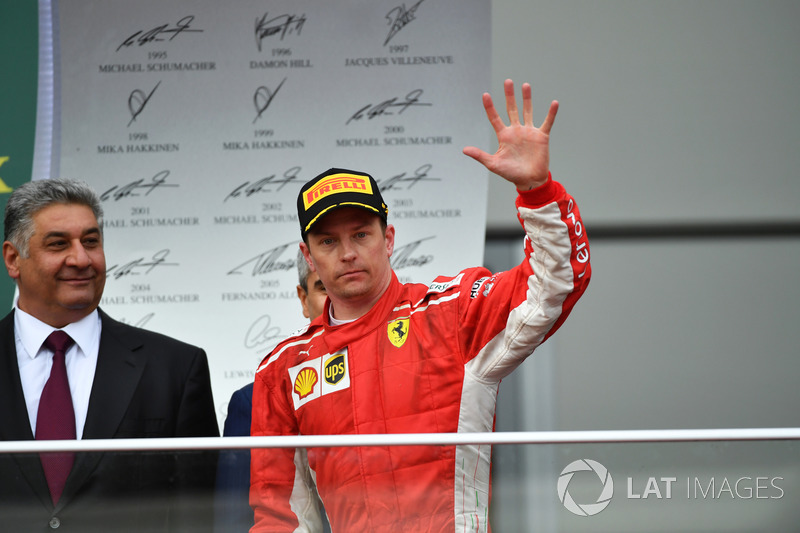 Kimi Raikkonen, Ferrari en el podio