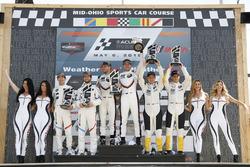 GTLM podium: #25 BMW Team RLL BMW M8, GTLM: Alexander Sims, Connor de Phillippi, #912 Porsche Team North America Porsche 911 RSR, GTLM: Laurens Vanthoor, Earl Bamber, #3 Corvette Racing Chevrolet Corvette C7.R, GTLM: Antonio Garcia, Jan Magnussen, podium