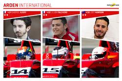 Arden International et ses pilotes : Gabriel Aubry, Julien Falchero et Joey Mawson