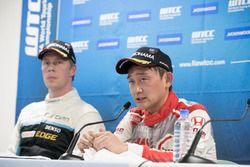 Conferencia: Ryo Michigami, Honda Racing Team JAS, Honda Civic WTCC , Thed Björk, Polestar Cyan Raci