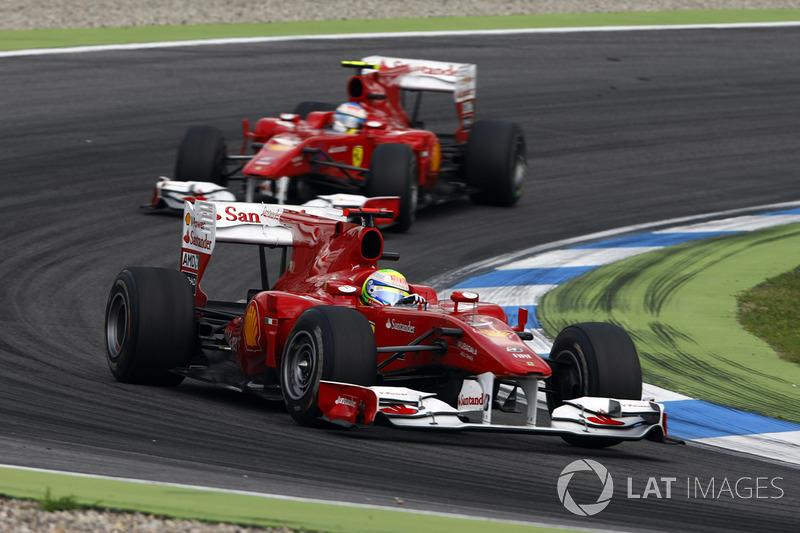 O polêmico GP da Alemanha de 2010 foi exatamente um ano depois do incidente na classificação para o GP da Hungria de 2009 (25 de julho).