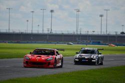 #55 MP2A Ginetta G55, Adolpho Rossi, Esio Vichiesi, Ginetta USA, #58 MP1B Porsche GT3 Cup, Dale Ott and Carter Fartuch, TLM Racing