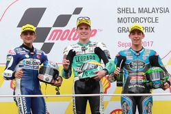 Podium: race winner Joan Mir, Leopard Racing, second place Jorge Martin, Del Conca Gresini Racing Moto3, Third place Enea Bastianini, Estrella Galicia 0,0