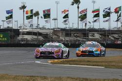#71 P1 Motorsports Mercedes-AMG GT3: Kenton Koch, Robby Foley III, JC Perez, Loris Spinelli, #75 SunEnergy1 Racing Mercedes AMG GT3: Kenny Habul, Thomas Jäger, Maro Engel, Mikael Grenier