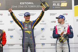 Podium: Race winner #9 Team Marc VDS Renault RS01: Fabian Schiller