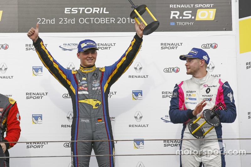 Podium: Race winner #9 Team Marc VDS Renault RS01: Fabian Schiller