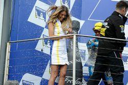 Champagne sur le podium