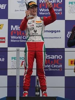 Podium Race 1: winner, Mick Schumacher, Prema Power Team