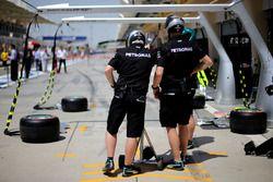 Les mécaniciens Mercedes AMG F1 Team