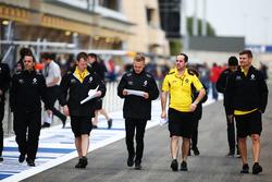 Kevin Magnussen, Renault Sport F1 Team lors de la reconnaissance de la piste avec l'équipe