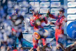 Podium : le vainqueur Lucas di Grassi, ABT Schaeffler Audi Sport, le deuxième, Stéphane Sarrazin, Venturi, le troisième, Daniel Abt, ABT Schaeffler Audi Sport