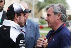 Fernando Alonso, McLaren et Carlos Sainz