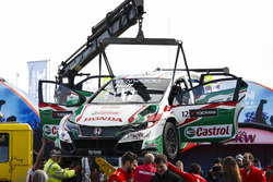 Auto chocado de Rob Huff, Honda Civic WTCC