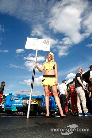 Grid girl of Edoardo Mortara (ITA) Audi Sport Team Abt Sportsline, Audi RS 5 DTM. 21.05.2016, DTM R