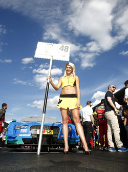 Grid girl of Edoardo Mortara (ITA) Audi Sport Team Abt Sportsline, Audi RS 5 DTM. 21.05.2016, DTM R