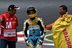 Juanfran Guevara, RBA Racing Team après sa chute