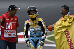 Juanfran Guevara, RBA Racing Team after his crash