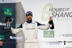 Podium GTE-Am: second place #78 KCMG Porsche 911 RSR: Joël Camathias