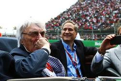 Bernie Ecclestone, on the drivers parade
