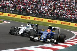 Felipe Massa, Williams Martini Racing FW38 and Felipe Nasr, Sauber F1 Team C35