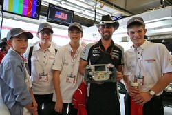 The F1 in Schools Outstanding Sportsmanship Award winners - Austrian entry Airy Eagles, with Mark Gr