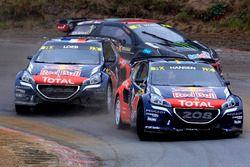 Timmy Hansen, Team Peugeot Hansen; Sébastien Loeb, Team Peugeot Hansen