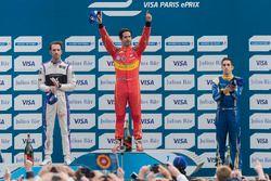 Podium: Lucas di Grassi, ABT Schaeffler Audi Sport, Jean-Eric Vergne, DS Virgin Racing, Sébastien Buemi, Renault e.Dams