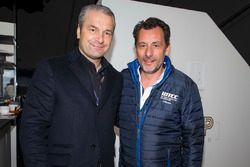 François Ribeiro, Eurosport Motorsport Director with the Hungarian football team trainer Bernd Storck