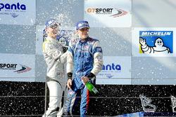 Podium: race winner Colton Herta, Carlin Motorsport, second place Ferdinand Habsburg, Drivex School