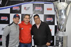 Rubens Barrichello, Carlos Romagnolli e Felipe Giaffone