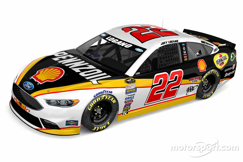 Throwback-Design von Joey Logano, Team Penske, Ford