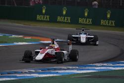 Charles Leclerc, ART Grand Prix leads Matthew Parry, Koiranen GP