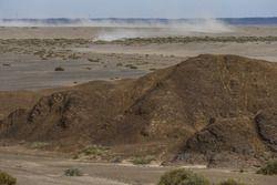 Atemberaubende Landschaft bei der Silk Way Rally