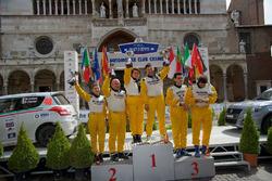 Il podio della Suzuki Rally Cup