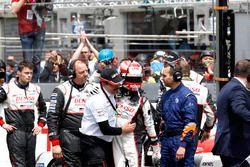#5 Toyota Racing Toyota TS050 Hybrid: Kazuki Nakajima with Rob Leupen, Toyota Motorsport after the c