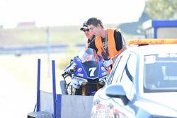 Мотоцикл Брок Паркс, Марвин Фриц и Брэдли Смит, #7 YART Yamaha Official EWC Team, Yamaha R1 после аварии