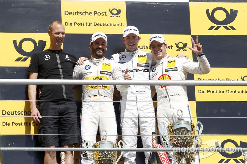 المنصة: المركز الأول بول دي ريستا، مرسيدس،المركز الثاني تيمو غلوك، بي أم دبليو، المركز الثالث أوغوس