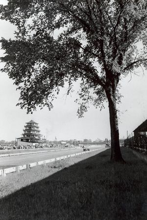 Pagoda tower and tree