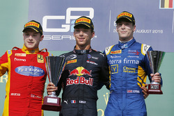 Podium: winner Pierre Gasly, PREMA Racing, second place Jordan King, Racing Engineering, third place Alex Lynn, DAMS