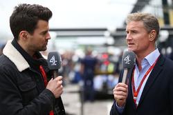 Steve Jones, presentador de canal 4 F1 con David Coulthard, canal 4 comentarista de F1