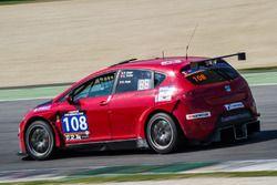 #108 Capricorn Racing, Seat Leon Supercopa: Claudio Truffer, Patrik Meier, Gerhard Haas