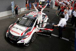 Winner Norbert Michelisz, Honda Racing Team JAS, Honda Civic WTCC
