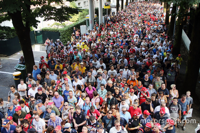 Fans enter the circuit