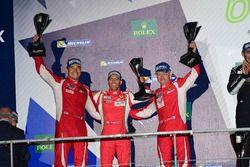 LM GTE Am segundo lugar Francois Perrodo, Emmanuel Collard, Rui Aguas, AF Corse