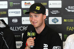 Reinis Nitiss, Münnich Motorsport, in der Pressekonferenz