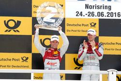 Podio: il secondo classificato Jamie Green, Audi Sport Team Rosberg, Audi RS 5 DTM