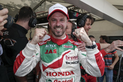 Pole position pour Tiago Monteiro, Honda Racing Team JAS, Honda Civic WTCC