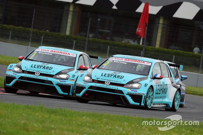 Jean-Karl Vernay, Volkswagen Golf GTI TCR, Leopard Racing; Stefano Comini, Leopard Racing, Volkswage