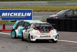 Gianni Morbidelli, Honda Civic TCR, West Coast Racing, Stefano Comini, Leopard Racing Volkswagen Gol