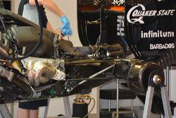 Détails de l'arrière de la Sahara Force India F1 VJM09